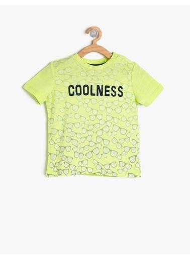 Koton Kids Desenli T-Shirt Yeşil